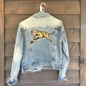 F21 • embroidered denim jacket